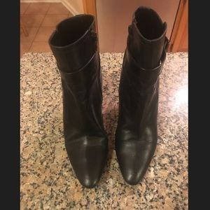 Manolo Blahnik Leather Booties. Great Condition!
